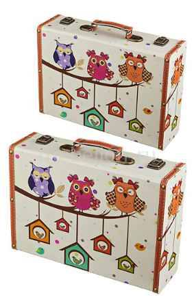 Купить АРТИ-М Набор из 2 шкатулок декоративных Совята 706-242
