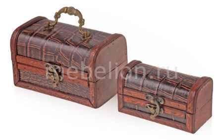 Купить Гифтман Набор из 2 шкатулок декоративных Сундучок 18767