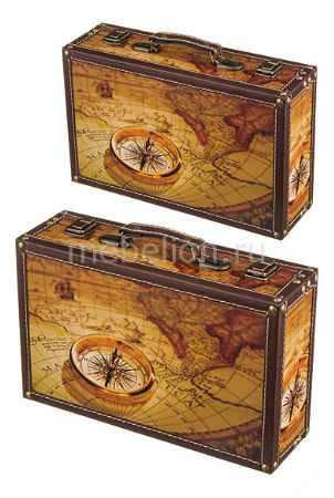 Купить АРТИ-М Набор из 2 шкатулок декоративных Карта мира 706-249
