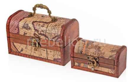 Купить Гифтман Набор из 2 шкатулок декоративных Сундучок 18768