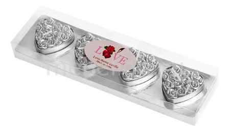 Купить Гифтман Набор из 4 свечей декоративных Love 16284