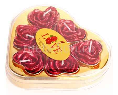 Купить Гифтман Набор из 6 свечей декоративных Love 16277