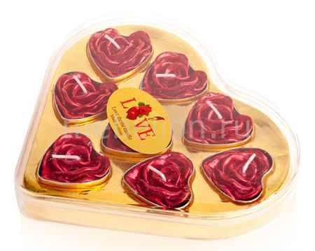 Купить Гифтман Набор из 8 свечей декоративных Love 16281