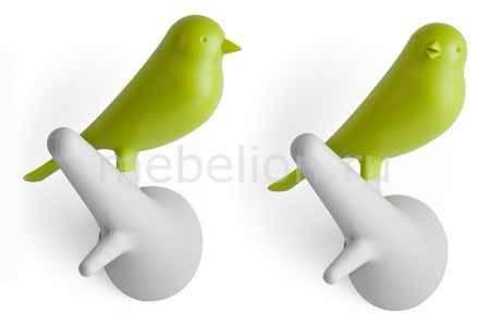 Купить Umbra Набор из 2 крючков декоративных Qualy QL10067-WH-GN