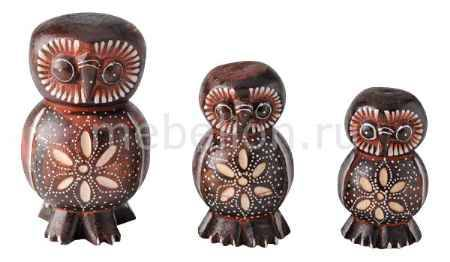 Купить Гифтман Набор из 3 статуэток Сова 50051