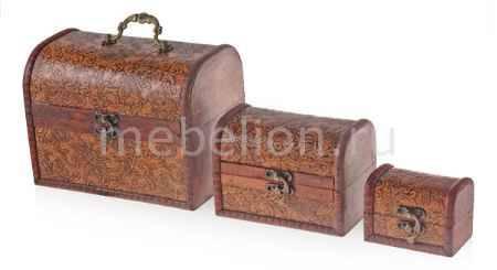 Купить Гифтман Набор из 3 шкатулок декоративных Сундучок 18772