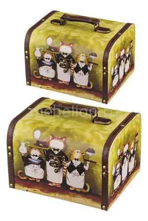 Купить АРТИ-М Набор из 2 шкатулок декоративных Коты-официанты 706-243