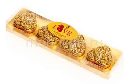 Купить Гифтман Набор из 4 свечей декоративных Love 16283