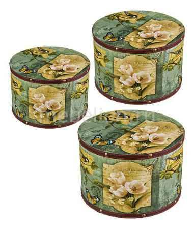 Купить АРТИ-М Набор из 3 шкатулок декоративных Цветы и птицы 706-203