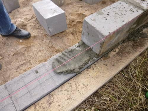 Как делать фундамент из блоков