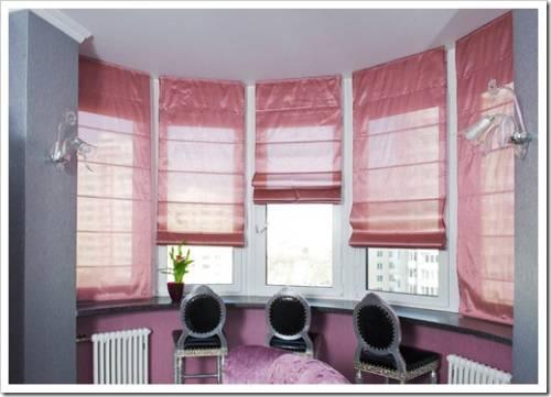 Установка римской шторы на окно