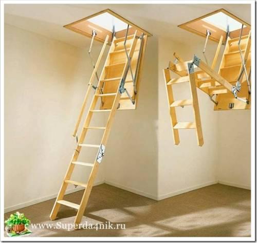 Закрепление лестницы в проёме