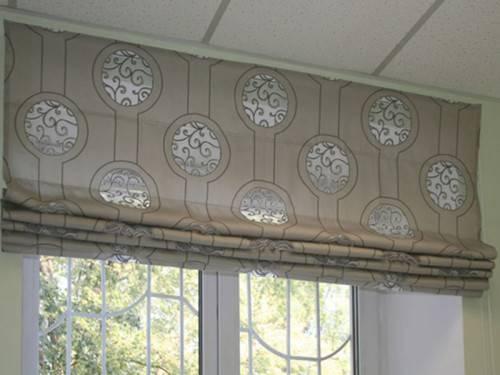 самодельные рулонные шторы
