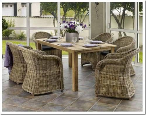 Применение мебели из ротанга в современных интерьерах