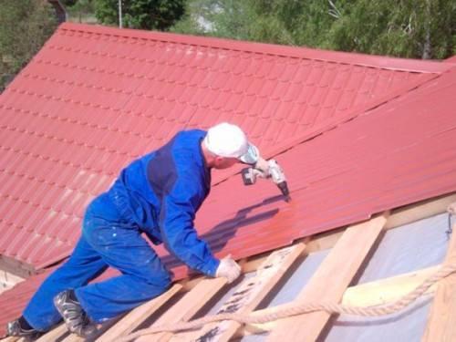 покрытие крыши металлочерепицы