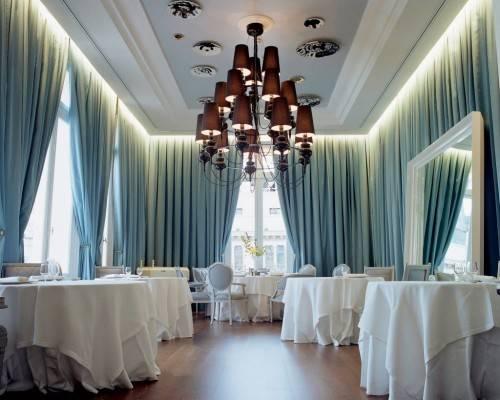 шторы в ресторане