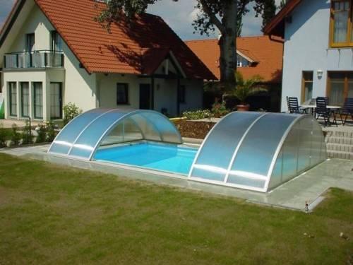 навесы из поликарбоната для бассейна