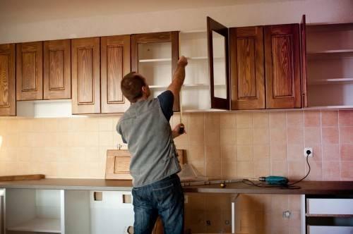 установка кухонного гарнитура