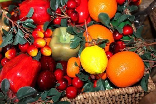 муляжи овощей и фруктов