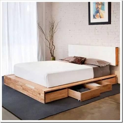 Кровать-подиум – ода минимализму