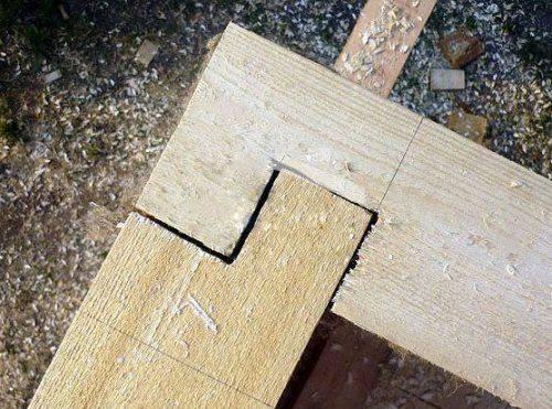 соединение деревянных брусков