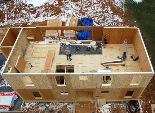 стройка дома из сип панелей