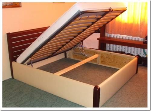 Конструкция двуспальной кровати