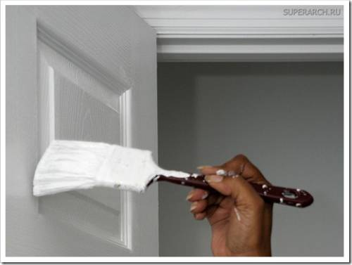 Подготовка поверхности двери