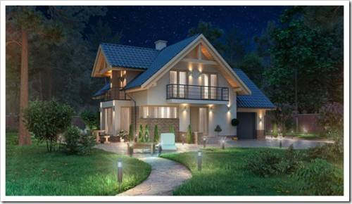 Деревянный дом для загородного проживания