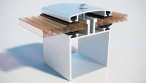 Монтаж сотового поликарбоната на металлический каркас