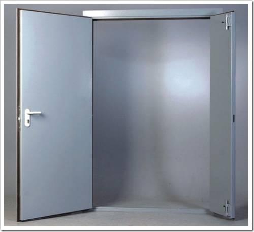Внешняя отделка технических дверей