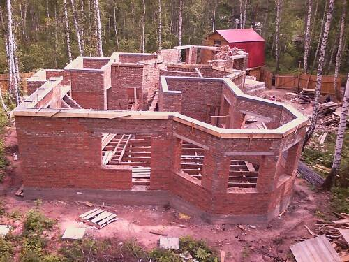 Этапы работ по строительству дома из кирпича